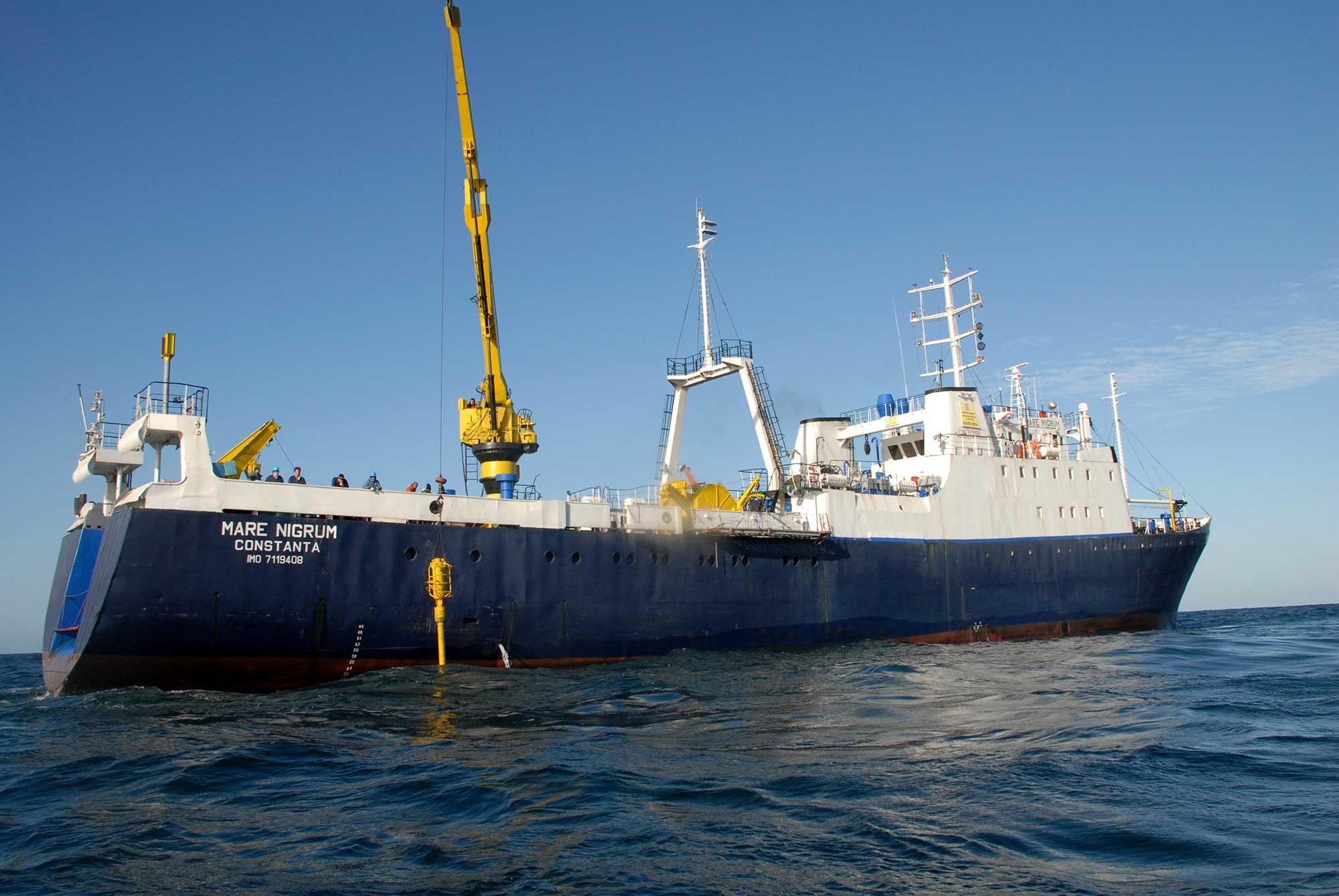 Nava Mare Nigrum este principala platformă a GeoEcoMar pentru cercetările științifice în Marea Neagră